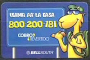 Llama Phone Card Bell South